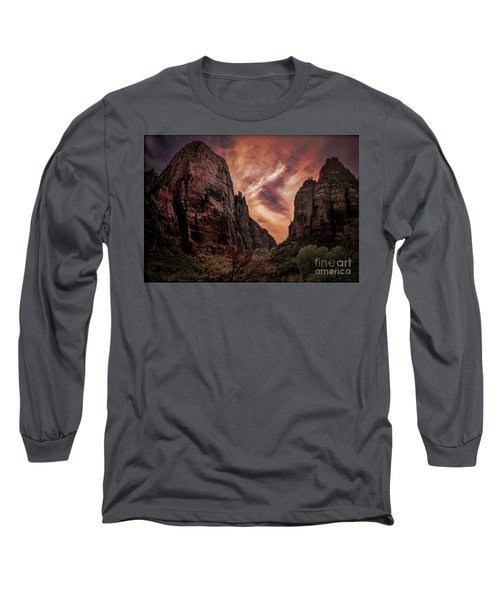 Dramatic Zion National Park Utah  Long Sleeve T-Shirt
