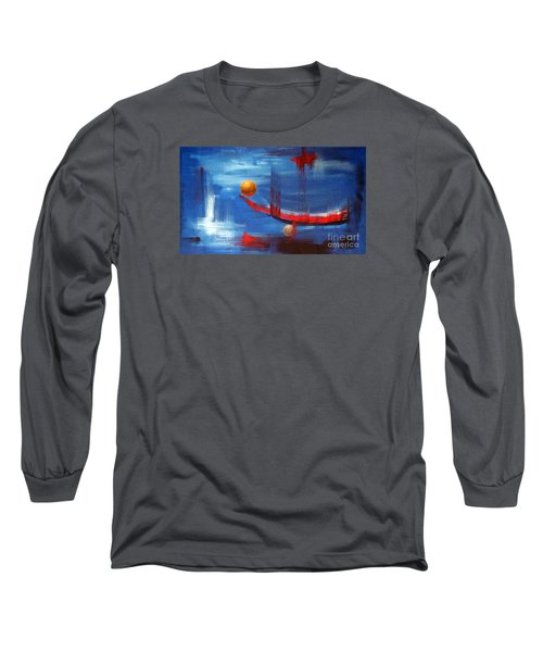 Long Sleeve T-Shirt featuring the painting Dream Ship by Arturas Slapsys
