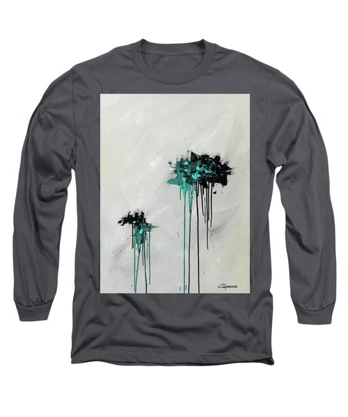 Long Sleeve T-Shirt featuring the painting Dreamers by Carmen Guedez