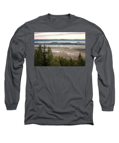 Dreamlike Landscape Long Sleeve T-Shirt by Teemu Tretjakov