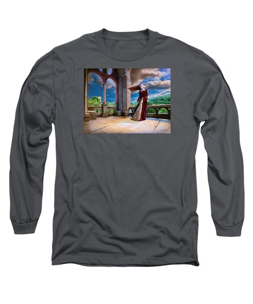 Long Sleeve T-Shirt featuring the painting Dreams Of Heaven by Dave Luebbert