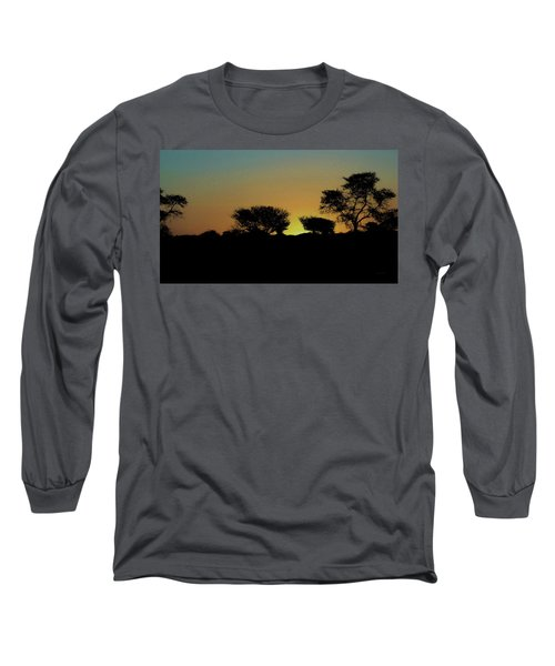 Dreams Of Namibian Sunsets Long Sleeve T-Shirt by Ernie Echols