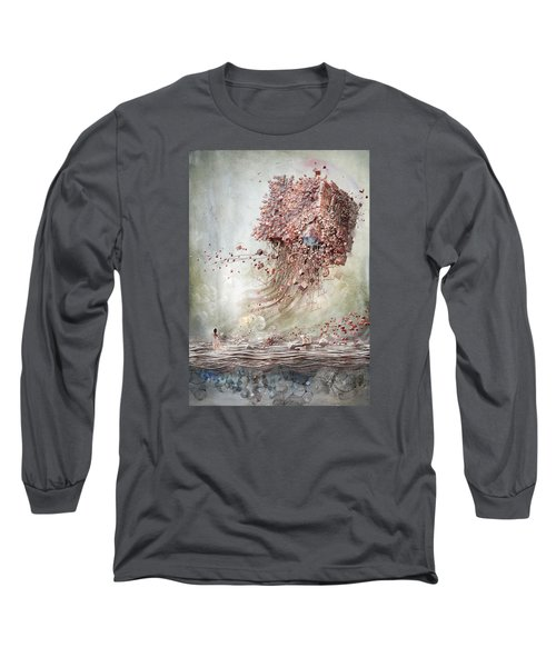Dreamscape Flow No.1 Long Sleeve T-Shirt by Te Hu