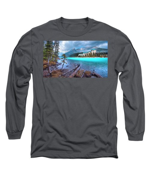 Dreamy Chateau Lake Louise Long Sleeve T-Shirt