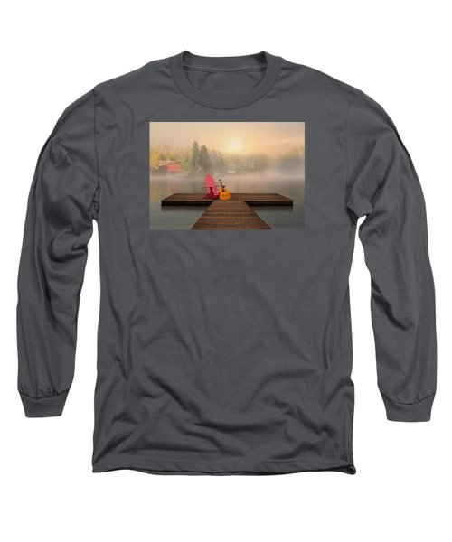 Dreamy Country Lake Long Sleeve T-Shirt