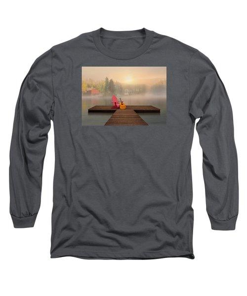 Dreamy Country Lake Long Sleeve T-Shirt