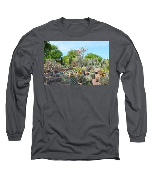 Dreamy Desert Cactus Long Sleeve T-Shirt by Aimee L Maher Photography and Art Visit ALMGallerydotcom