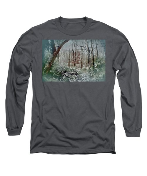 Dreamy Snow Long Sleeve T-Shirt by Sandy Moulder