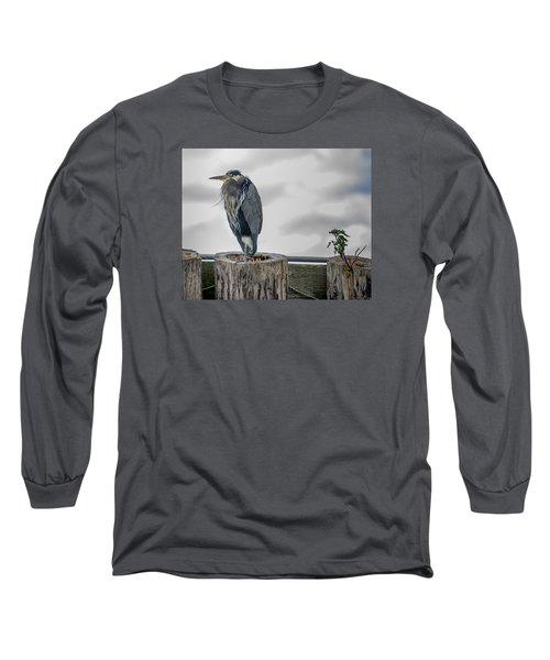 Long Sleeve T-Shirt featuring the photograph Dreay Day At The Ocean by Jerry Cahill