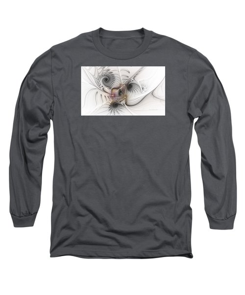 Long Sleeve T-Shirt featuring the digital art Dressed In Silk And Satin by Karin Kuhlmann