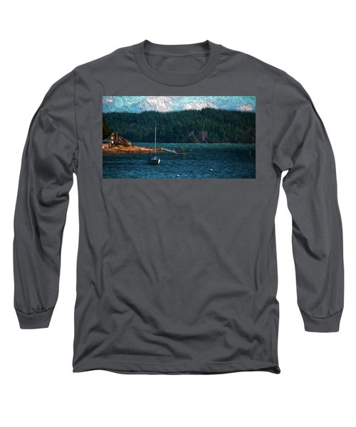 Long Sleeve T-Shirt featuring the digital art Drifting by Timothy Hack