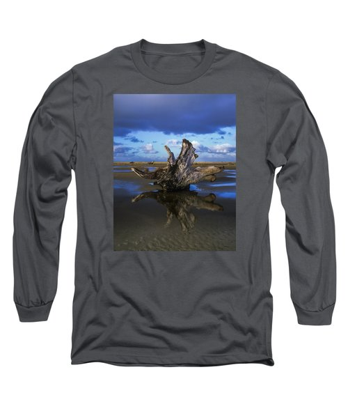 Driftwood And Reflection Long Sleeve T-Shirt