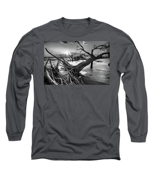 Driftwood Beach 8 Long Sleeve T-Shirt