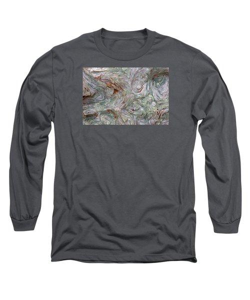 Driftwood Burl Long Sleeve T-Shirt by Chuck Flewelling