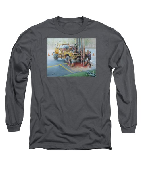 Drill,drill,drill Long Sleeve T-Shirt by Oz Freedgood