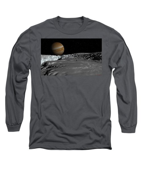 Drilling On Europa Long Sleeve T-Shirt