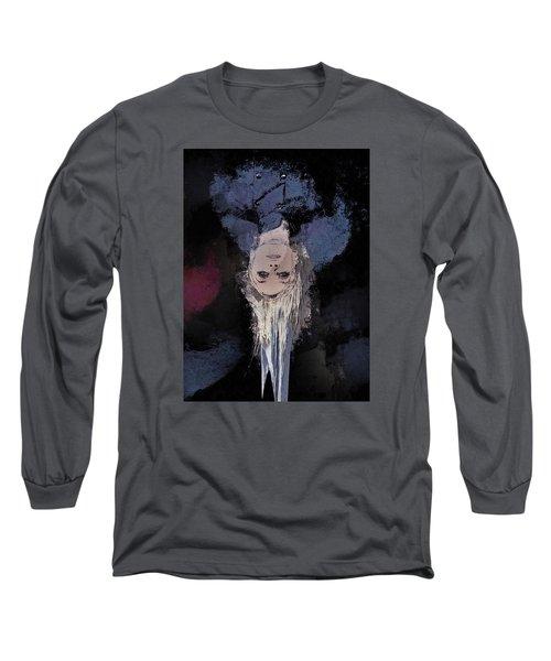 Long Sleeve T-Shirt featuring the digital art Drip by Galen Valle