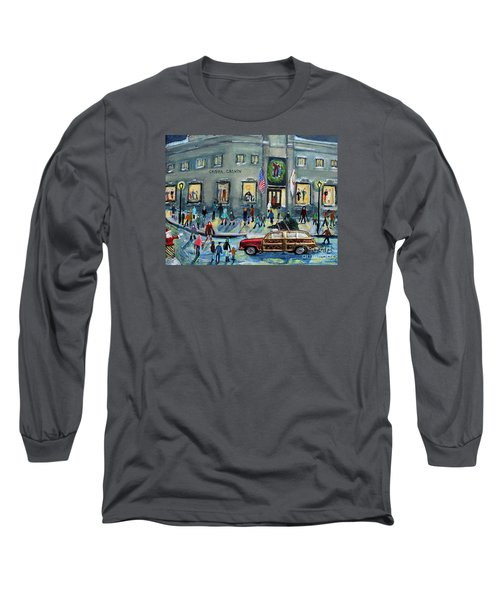 Driving By Cronins, After Getting The Tree Long Sleeve T-Shirt by Rita Brown