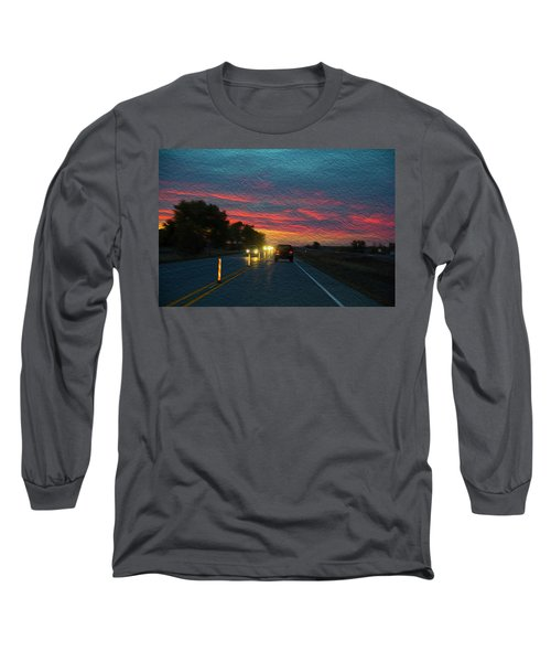 Driving Dusk Long Sleeve T-Shirt