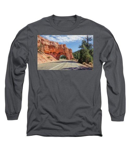 Driving Through Red Canyon Long Sleeve T-Shirt
