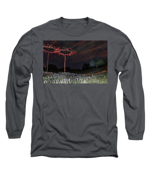 Drone Flowers Long Sleeve T-Shirt by Andrew Nourse