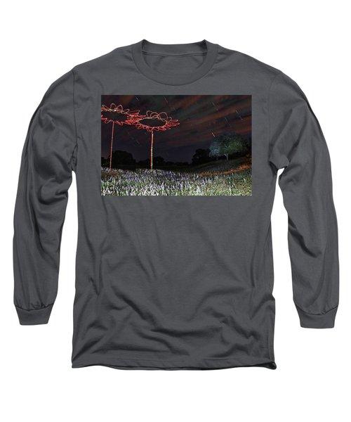 Drone Flowers Long Sleeve T-Shirt