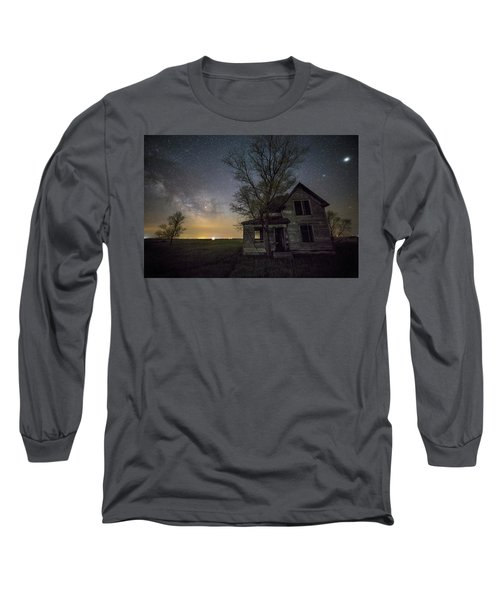 Drops Of Jupiter  Long Sleeve T-Shirt by Aaron J Groen