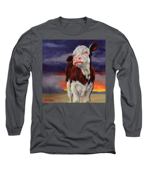Long Sleeve T-Shirt featuring the painting Drought Breaker by Margaret Stockdale