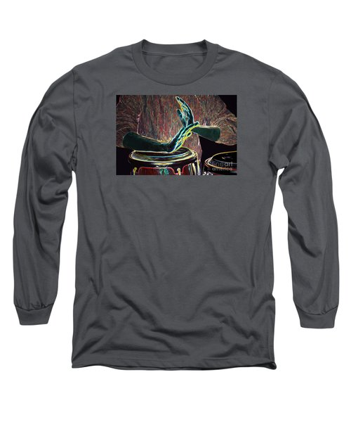 Drum Beat Heat Long Sleeve T-Shirt by Haleh Mahbod