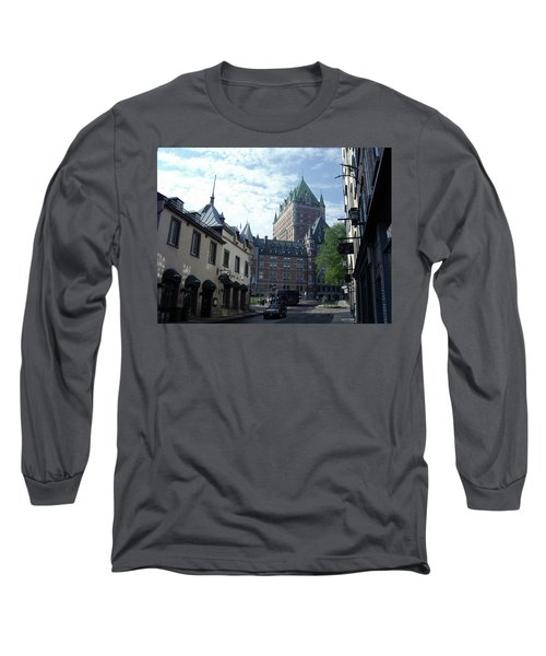 Long Sleeve T-Shirt featuring the photograph du Fort Chateau Frontenac by John Schneider