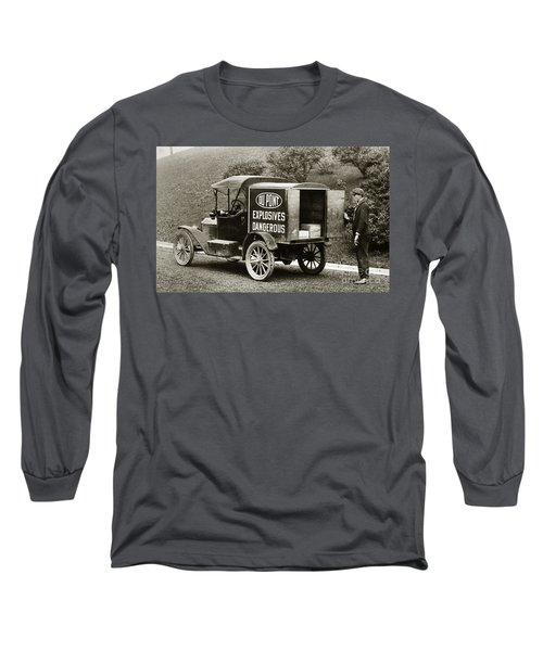 Du Pont Co. Explosives Truck Pennsylvania Coal Fields 1916 Long Sleeve T-Shirt