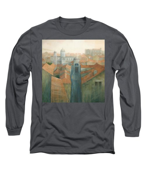 Dubrovnik Rooftops Long Sleeve T-Shirt by Steve Mitchell