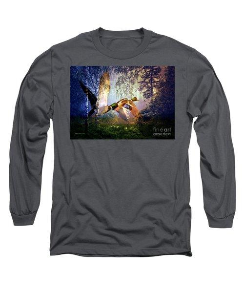 Ducks Flying To The Lake Long Sleeve T-Shirt