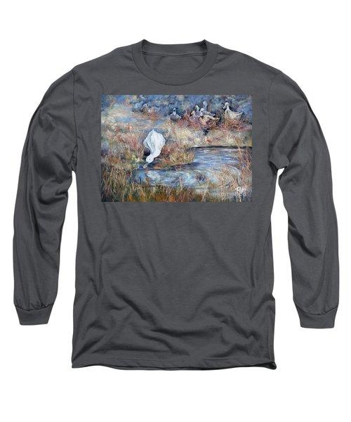 Ducks. Split Opposite Colour Harmony.  Long Sleeve T-Shirt