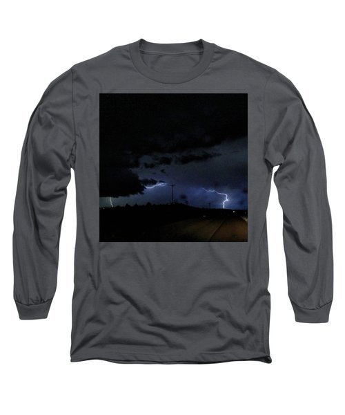 Dueling Lightning Bolts Long Sleeve T-Shirt