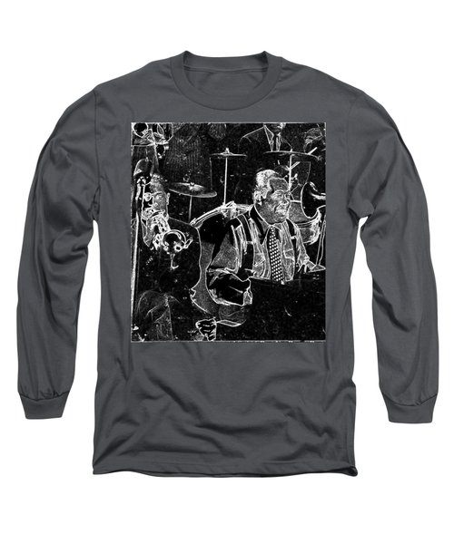 Long Sleeve T-Shirt featuring the mixed media Duke Ellington by Charles Shoup