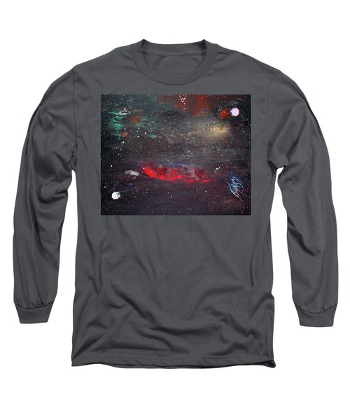 Long Sleeve T-Shirt featuring the painting Dulaity by Michael Lucarelli