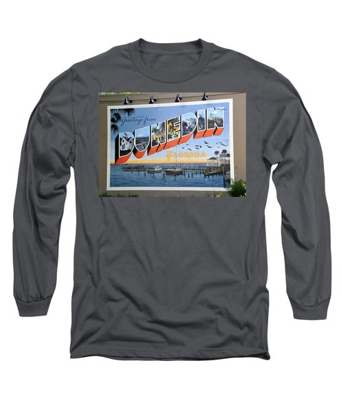 Dunedin Florida Post Card Long Sleeve T-Shirt