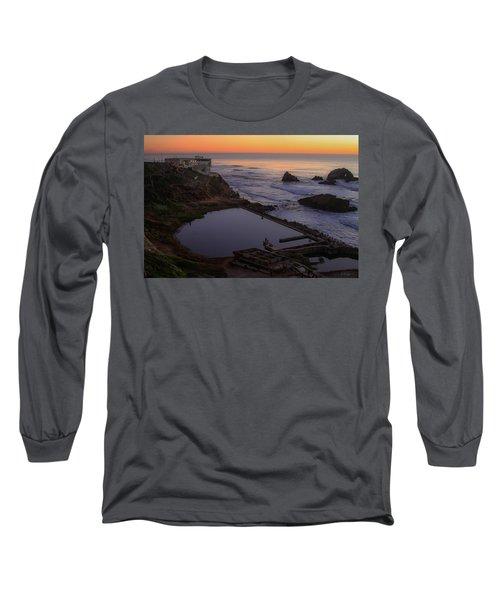 Dusk At Sutro Baths Long Sleeve T-Shirt