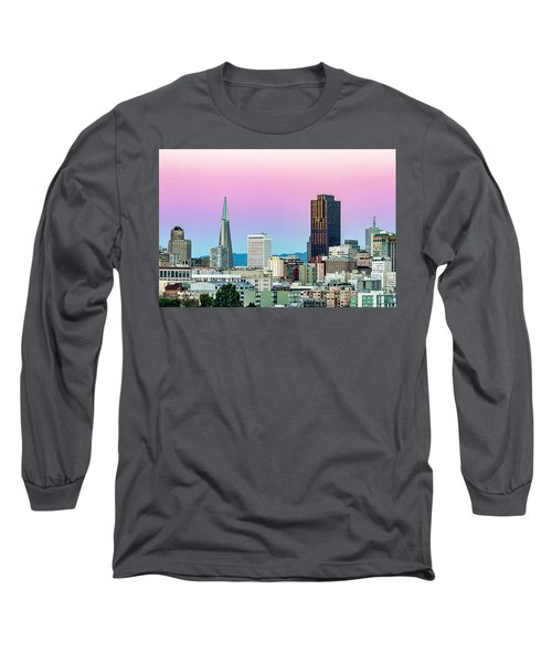 Long Sleeve T-Shirt featuring the photograph Dusk In San Francisco by Bill Gallagher