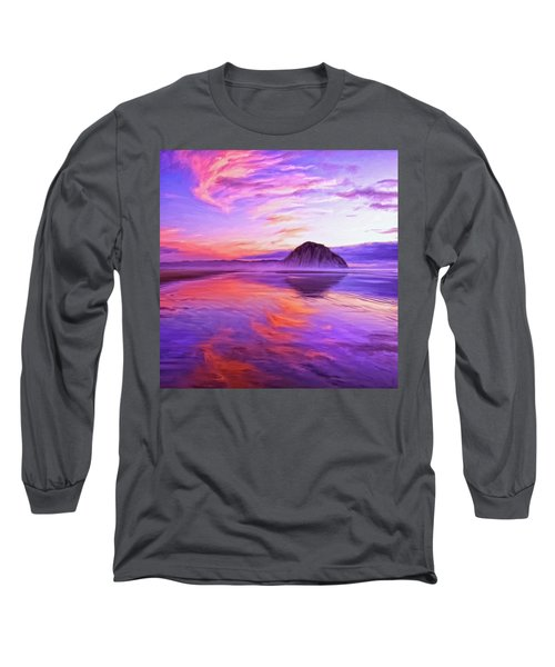 Dusk On The Morro Strand Long Sleeve T-Shirt