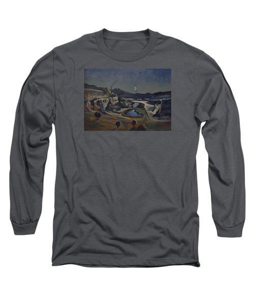 Dusk Over The Sint Pietersberg Long Sleeve T-Shirt by Nop Briex