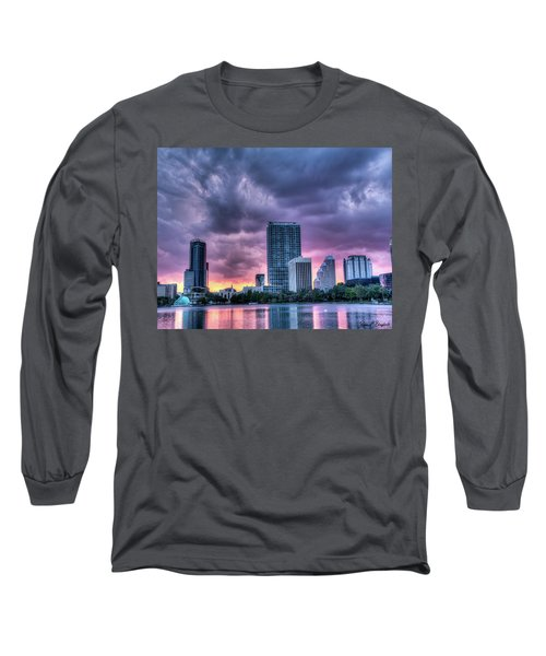 Dusky Downtown Orlando, Florida Long Sleeve T-Shirt
