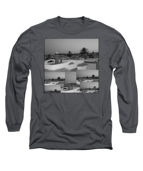 Long Sleeve T-Shirt featuring the photograph Dusky Rooftops by Linda Prewer