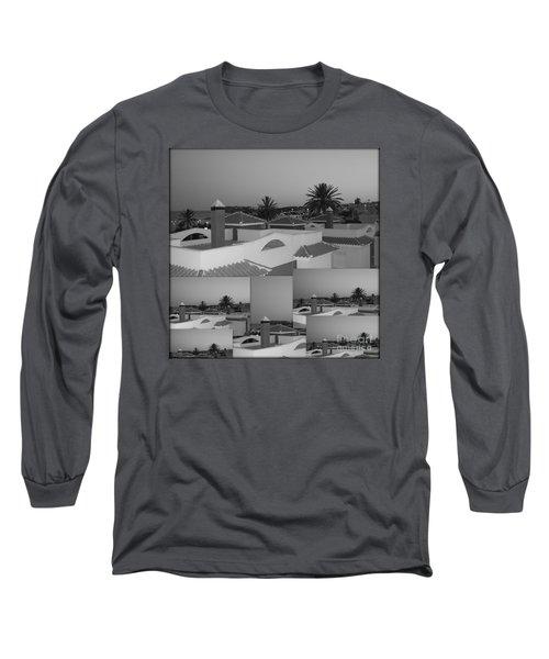 Dusky Rooftops Long Sleeve T-Shirt by Linda Prewer