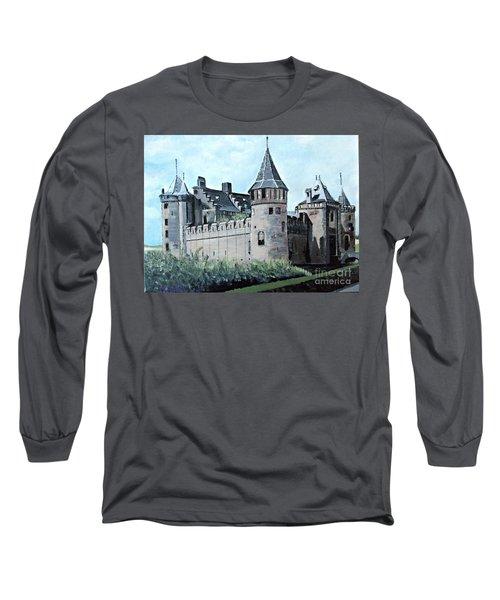 Dutch Castle In Muiden Long Sleeve T-Shirt by Francine Heykoop