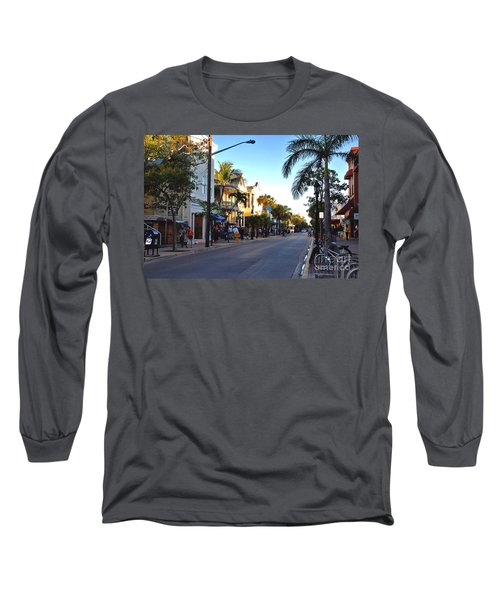 Duval Street In Key West Long Sleeve T-Shirt