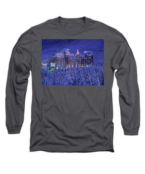 D.wiggett Banff Springs Hotel In Winter Long Sleeve T-Shirt