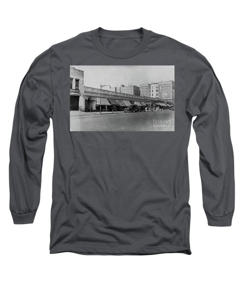 Long Sleeve T-Shirt featuring the photograph Dyckman Street, 1927 by Cole Thompson