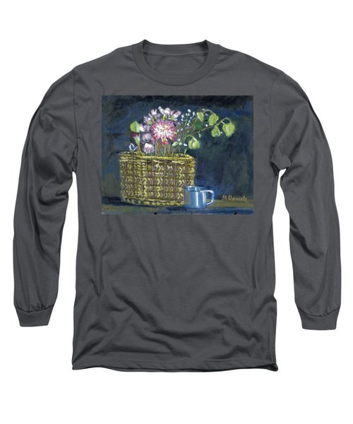 Long Sleeve T-Shirt featuring the painting Dying Flowers by Michael Daniels